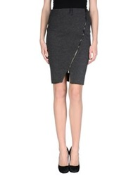 Adele Fado Knee Length Skirts Black