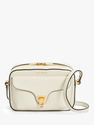 Coccinelle Beat Soft Tumbled Leather Pouch Bag Chalk