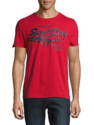 Superdry Triple Swoosh Cotton Tee Red