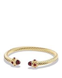 David Yurman Renaissance Bracelet With Garnet In 18K Gold Red Gold