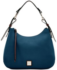 Dooney And Bourke Riley Large Hobo Midnight Blue