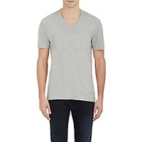 James Perse Men's V Neck T Shirt Grey Light Grey Grey Light Grey