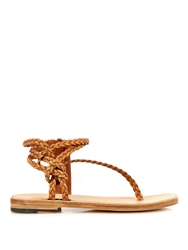 Haider Ackermann Knotted Leather Sandals