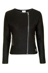 Icon Wool Mix Knitted Jacket By Jovonna Black