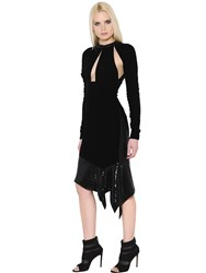 Alexandre Vauthier Sequined Cut Out Velvet Dress