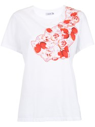 Isolda Dada Embroidered T Shirt White