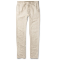 Massimo Alba Linen And Cotton Blend Trousers Gray