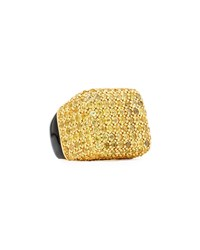 Pave Yellow Sapphire And Enamel Cube Ring Mcl By Matthew Campbell Laurenza Blue
