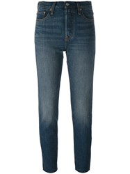 Levi's Straight Leg Cropped Jeans Blue