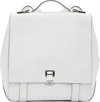 Proenza Schouler White Grained Leather Courier Medium Backpack