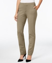 Charter Club Petite Slim Leg Ponte Pants Only At Macy's Vintage Rose