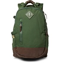 Visvim Cordura And Faux Leather Backpack Green