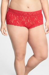 Plus Size Women's Hanky Panky Boyshorts Red