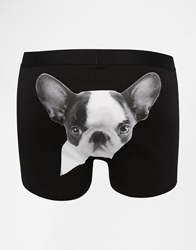 Asos Trunks With French Bulldog Print Black