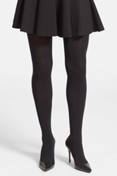 Vince Camuto Studded Back Seam Tights Black