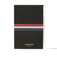 Thom Browne Small Leather Notebook Black