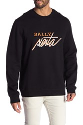 Bally Logo Printed Sweatshirt Black