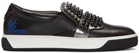 Fendi Black Studded Karlito Sneakers