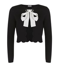 Claudie Pierlot Moma Scalloped Cardigan Female Black