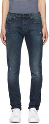Diesel Blue Ripped Tepphar Jeans