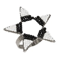 Amara Beaded Star Napkin Rings Set Of 4