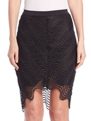 Bec And Bridge Mon Amour Mesh Detail Skirt Black