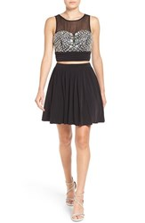 Speechless Women's Embellished Two Piece Skater Dress