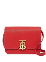 Burberry Mini Grainy Leather Tb Bag Red