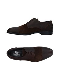 Fabiano Ricci Lace Up Shoes Dark Brown