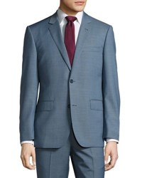 Neiman Marcus Modern Fit Two Button Two Piece Suit Medium Blue