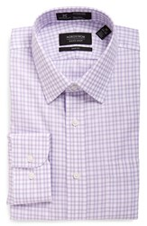 Nordstrom Men's Big And Tall Men's Shop Smartcare Tm Trim Fit Plaid Dress Shirt Lavender Spray