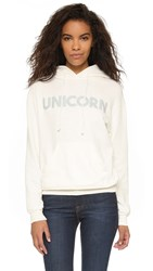 Wildfox Couture Unicorn Straight Up Hoodie Pearl