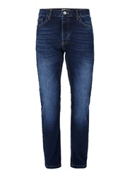 Topman Dark Wash Blue Standard Fit Jeans