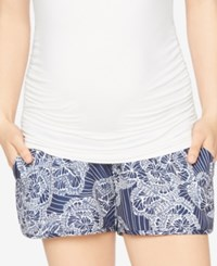 A Pea In The Pod Printed Maternity Shorts