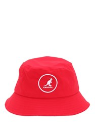 Kangol Cotton Bucket Hat Red