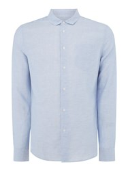 Linea Fleet Cotton Linen Shirt Sky