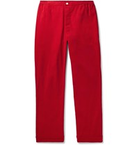 Sleepy Jones Marcel Cotton Corduroy Pyjama Trousers Red