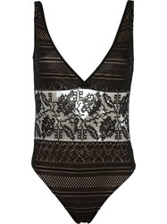 Cecilia Prado Crochet Swimsuit Black