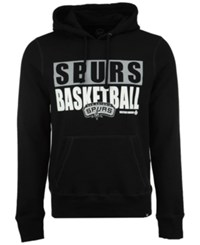 47 Brand '47 Men's San Antonio Spurs Knockaround Headline Pullover Hoodie Black