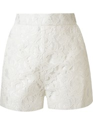 Martha Medeiros High Waist 'Marescot' Lace Shorts White