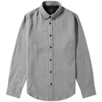 Rag And Bone Button Down Flannel Shirt Grey