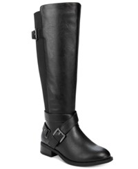 Thalia Sodi Vada Tall Wide Calf Riding Boots Only At Macy's Women's Shoes Black
