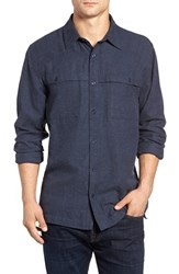 Threads For Thought Men's Chambray Work Shirt Blue Night