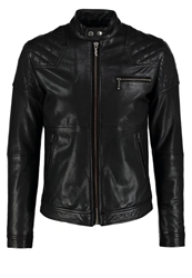 Nudie Jeans Keith Leather Jacket Black
