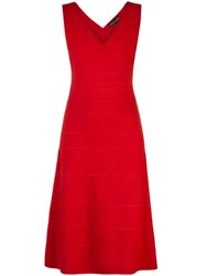Narciso Rodriguez X The Conservatory Knit Dress Red