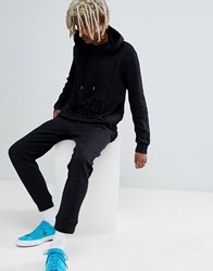 Love Moschino Skinny Joggers With Box Logo In Black