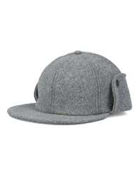 Norse Projects Grey Earflap Melton Cap