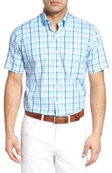 Peter Millar Men's Exploded Gingham Sport Shirt