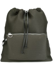 Maison Martin Margiela Mm6 Mesh Backpack Green