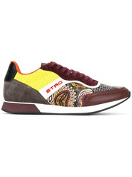 Etro Contrast Lace Up Trainers